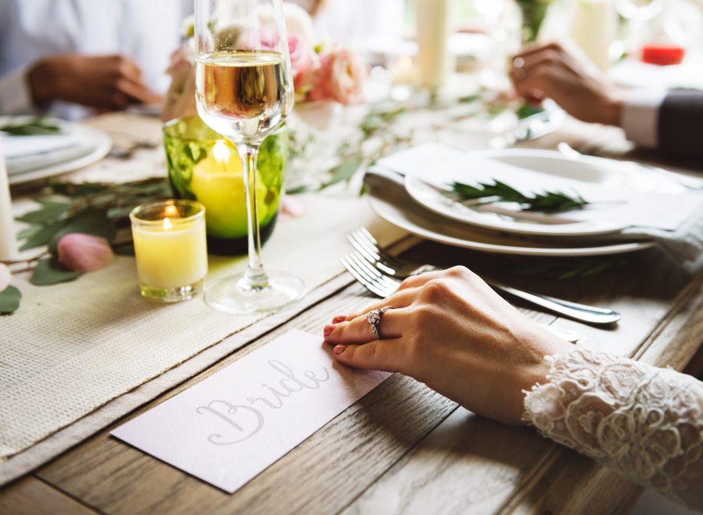 Tischgedeck der Braut